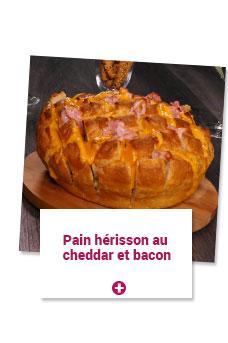 pain hérisson au cheddar